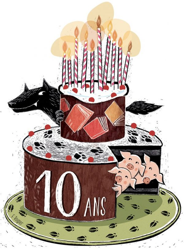 10 ans du CLJBxl (carte à gratter, infographie) 2016