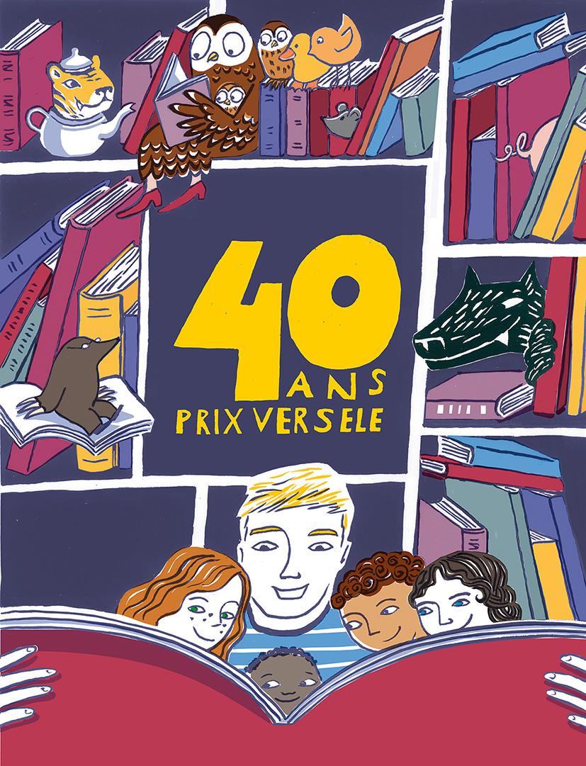 Affiche pour les 40 ans du prix Versele (encre de chine, infographie) 2018