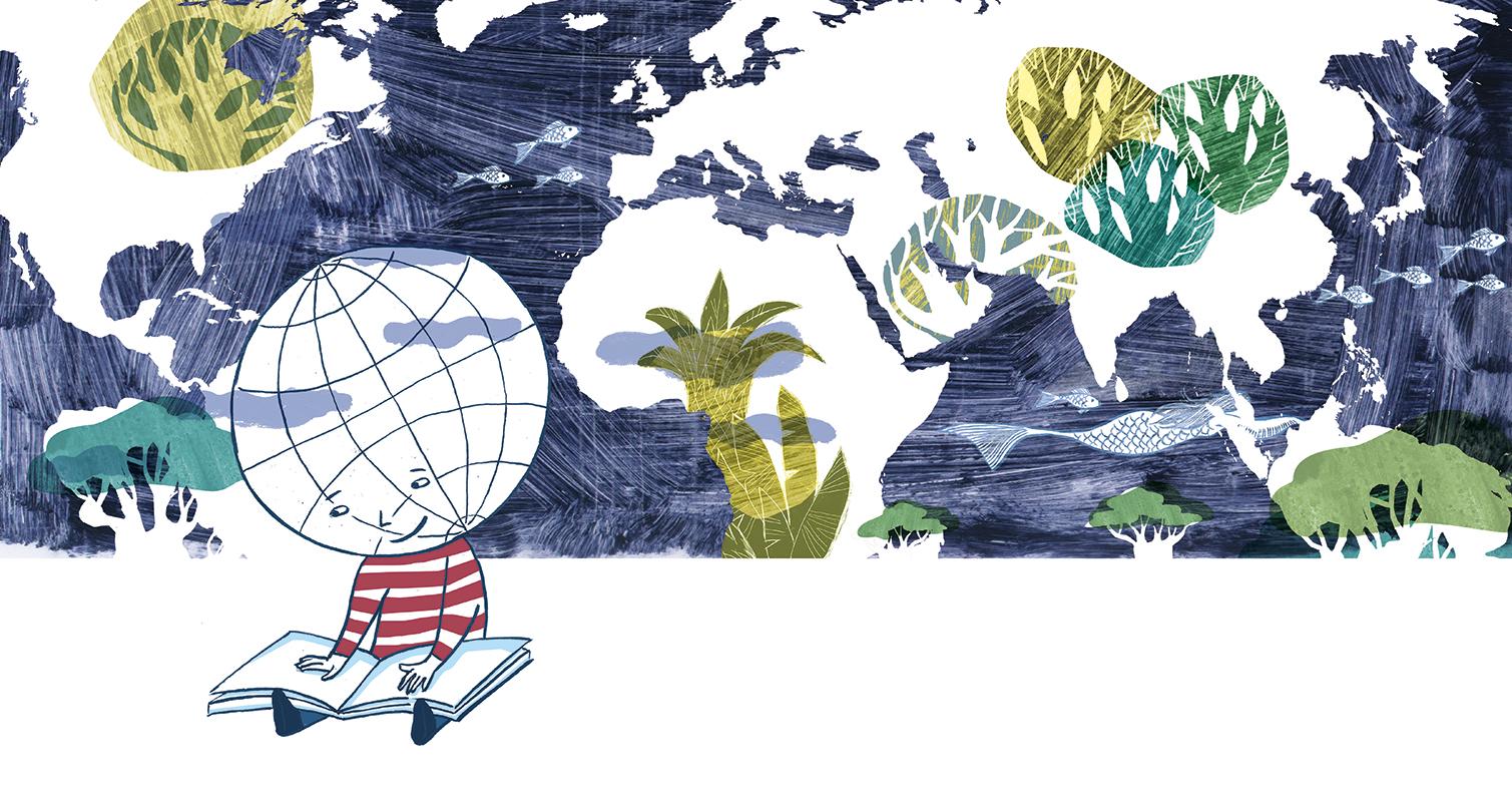 Lire, c'est comprendre le monde - Brochure 40 ans du prix Versele (encre de chine, infographie) 2018